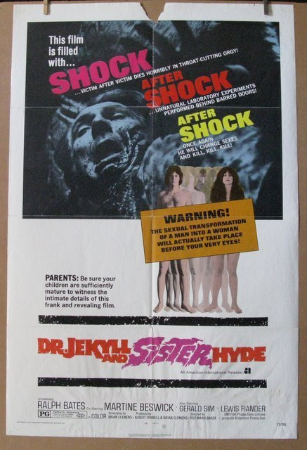 DR. JEKYLL AND SISTER HYDE - 1972 - One Sheet Movie