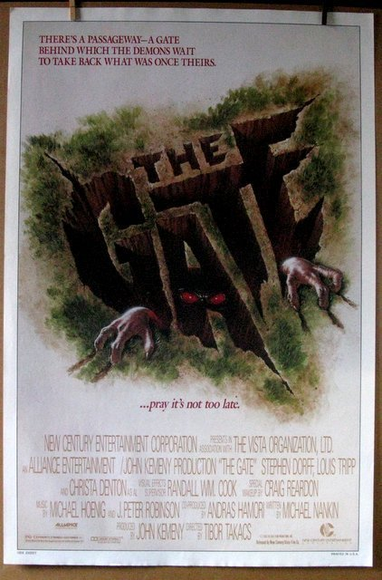 THE GATE THEATRICAL POSTER & THE GATE 2 VIDEO POSTER - - 2
