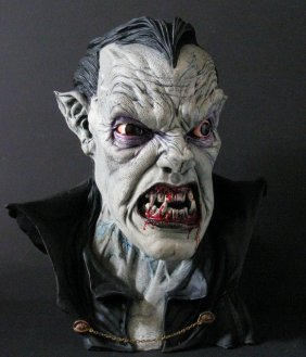 Dracula Life Size Pro Painted Resin Bust - Michael