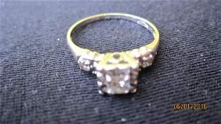 OUTSTANDING 14K GOLD RING W/ 20 PLUS PT. CENTER DIAMOND