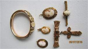 GREAT 6 PC'S OF GOLD FILLED VICTORIAN JEWELRY TO INC.