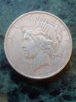 1922 PEACE DOLLAR - GOOD COND