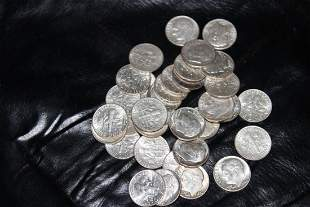 37 PROOF LIKE ROOSEVELT DIMES - GREAT MINT LUSTER -