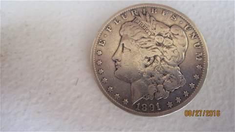 1891 CARSON CITY SILVER DOLLAR