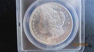 MS63 1881-S SILVER DOLLAR AUTHENTICATED