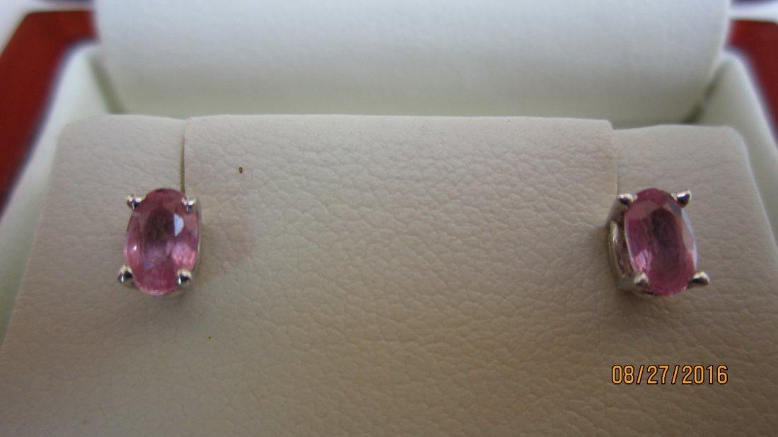 VERY UNUSUAL GOLD EARRINGS W/ OVAL CUT PINK DIAMONDS-