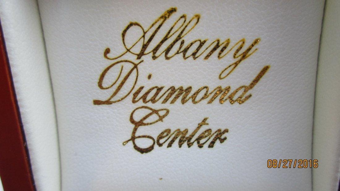 VERY UNUSUAL GOLD EARRINGS W/ OVAL CUT PINK DIAMONDS- - 2
