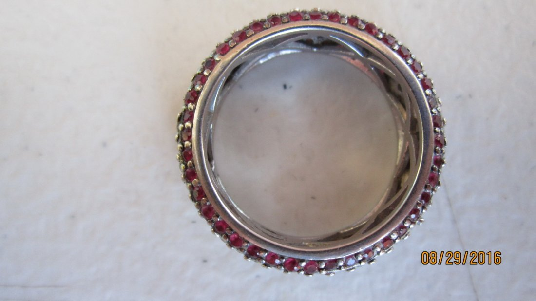 OUTSTANDING 14K GOLD BAND W/ OVER 80 RUBIES & OVER 100 - 4