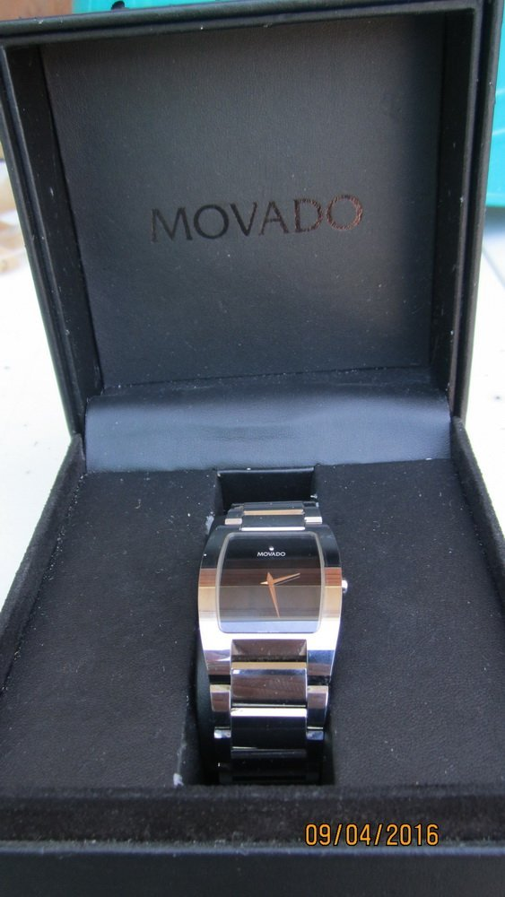 GREAT MOVADO FIESO TUNGSTEN CARBIDE MENS WATCH