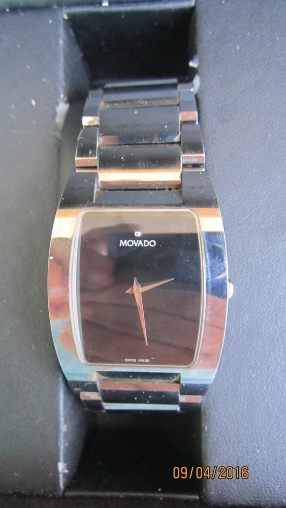 GREAT MOVADO FIESO TUNGSTEN CARBIDE MENS WATCH - 2