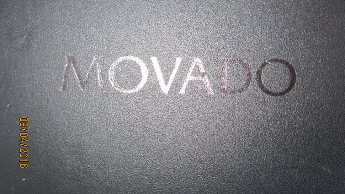 GREAT MOVADO FIESO TUNGSTEN CARBIDE MENS WATCH - 6