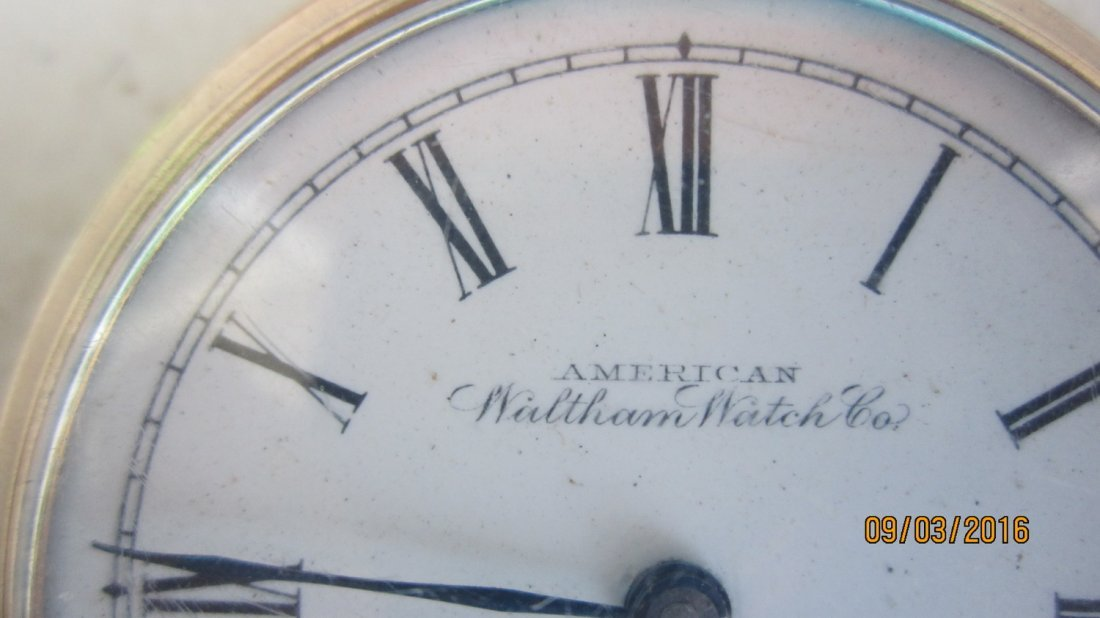 NICE AMERICAN WALTHAM WATCH CO. GOLD FILLED POCKET - 2