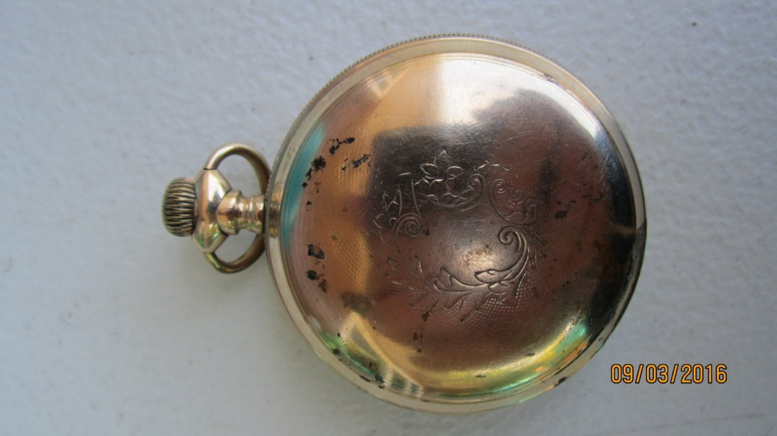 NICE AMERICAN WALTHAM WATCH CO. GOLD FILLED POCKET - 3