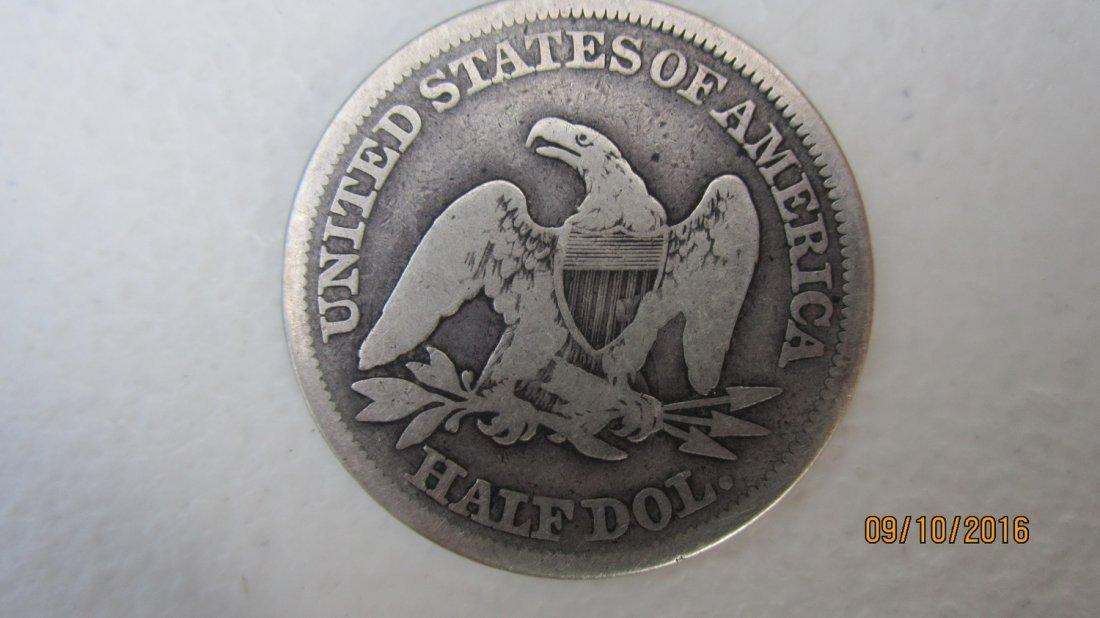 U.S. 1858 SILVER SEATED LIBERTY HALF DOLLAR - 2