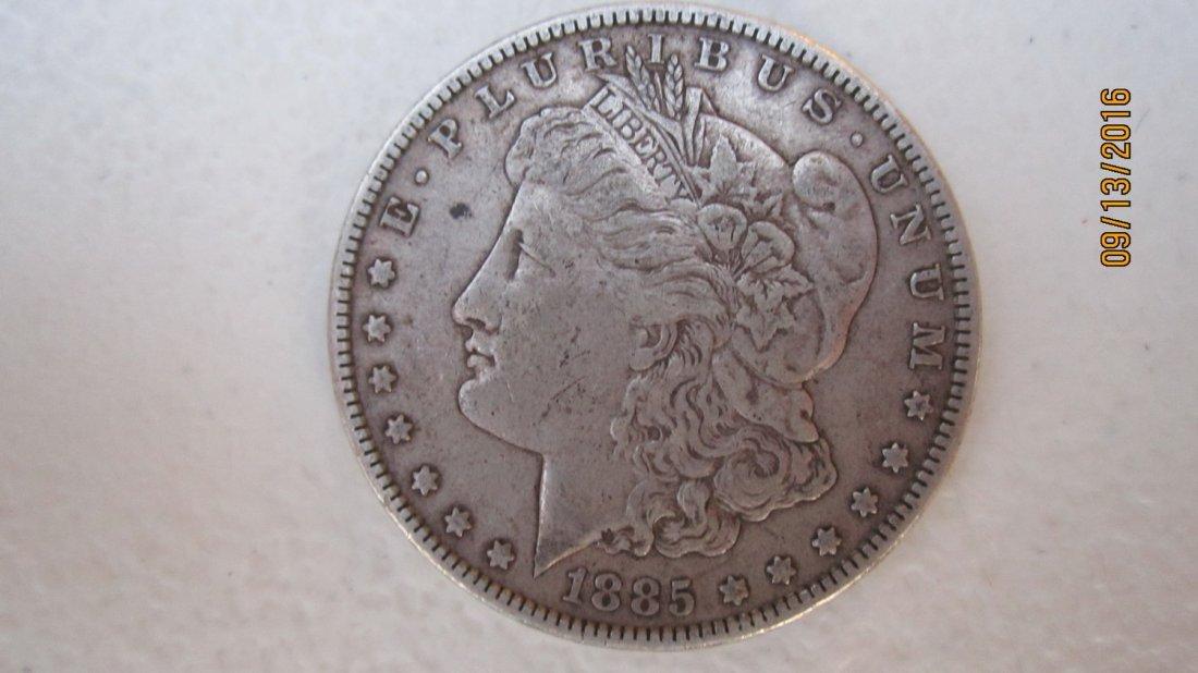 1885 U.S. MORGAN SILVER DOLLAR  - EXC. COND