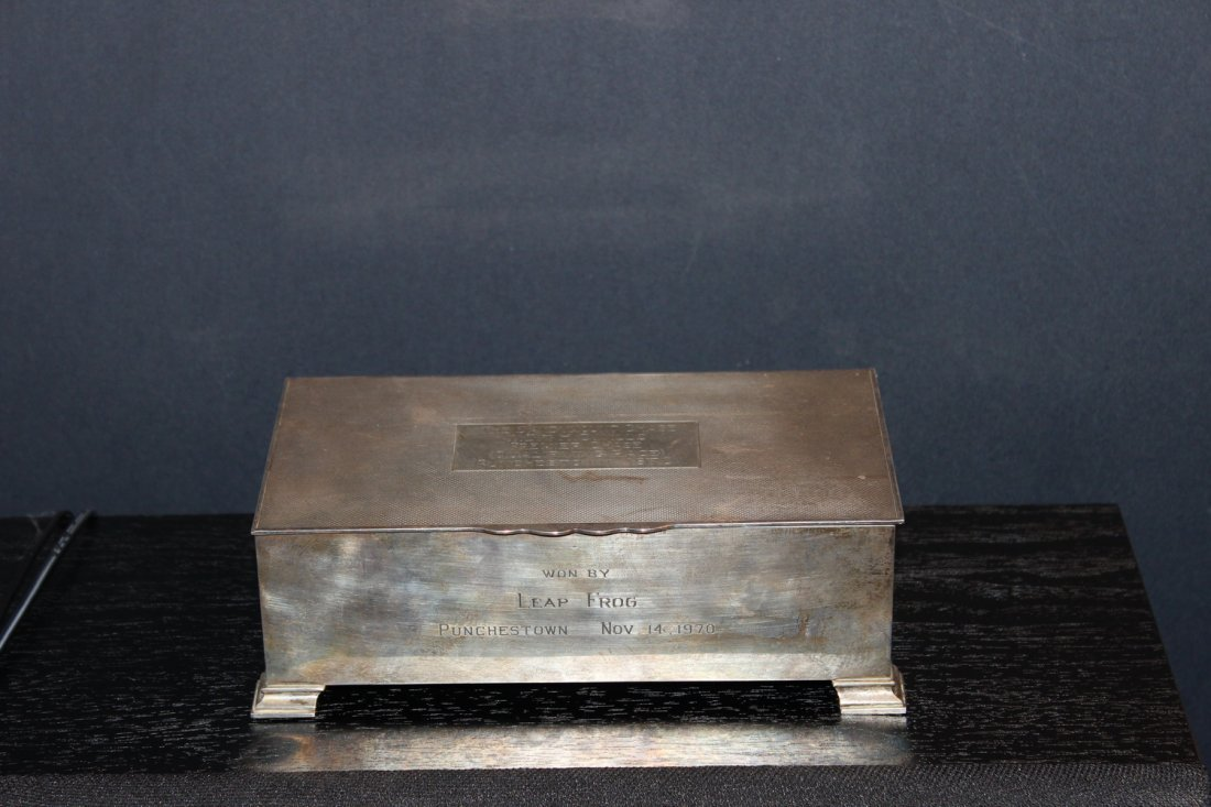 EARLY ENGLISH HALL MARKED STERLING SILVER BOX - WOOD