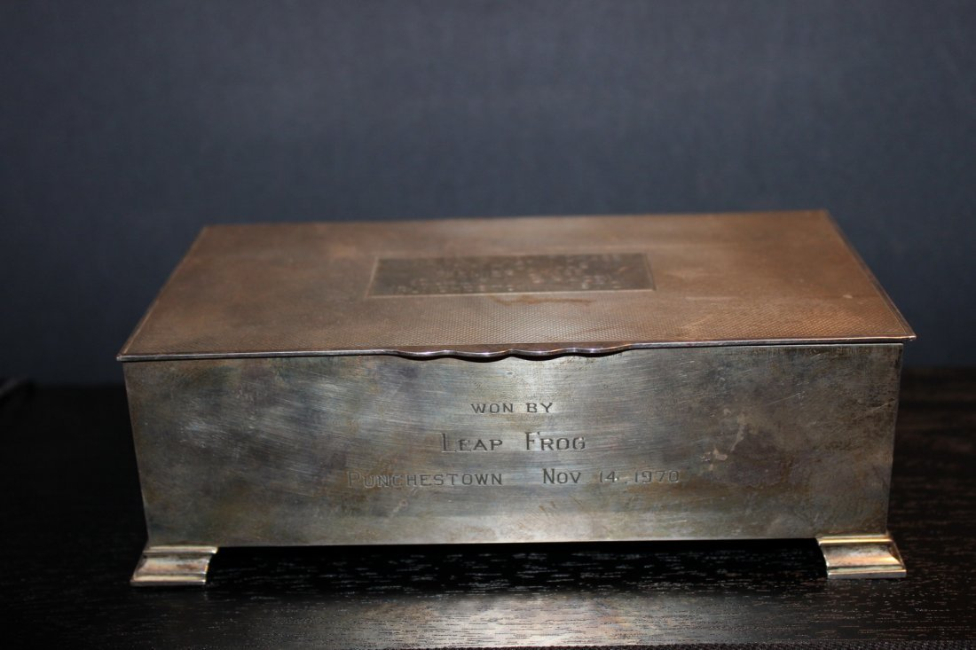 EARLY ENGLISH HALL MARKED STERLING SILVER BOX - WOOD - 2