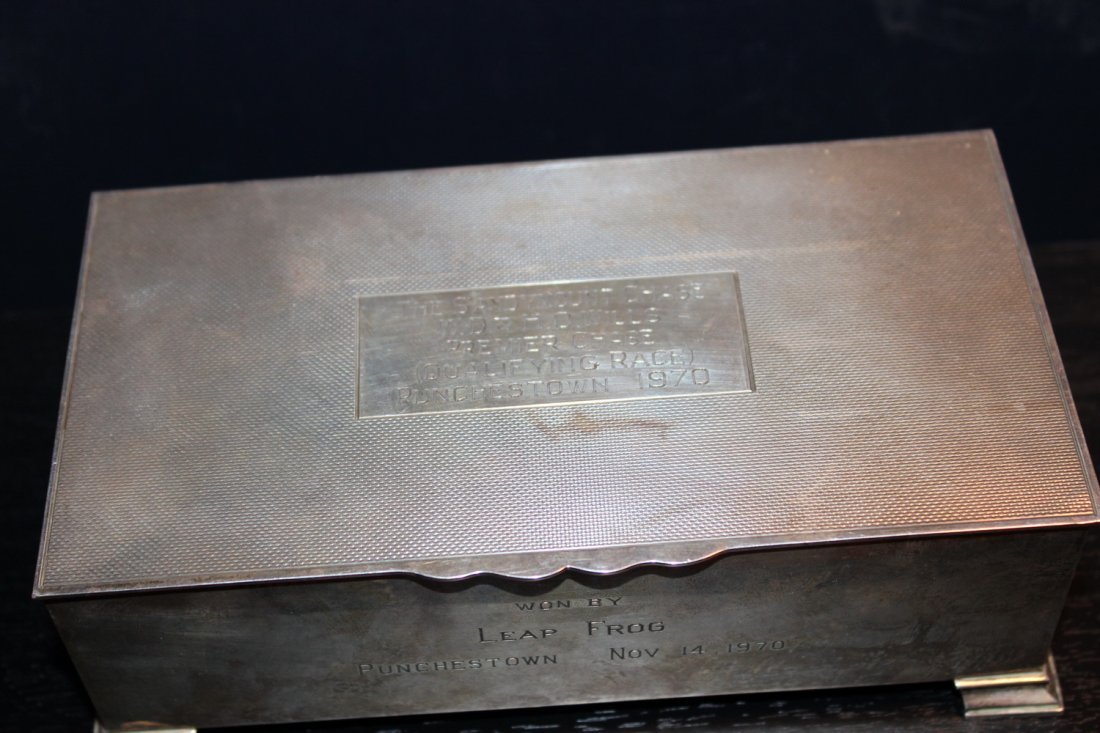 EARLY ENGLISH HALL MARKED STERLING SILVER BOX - WOOD - 3