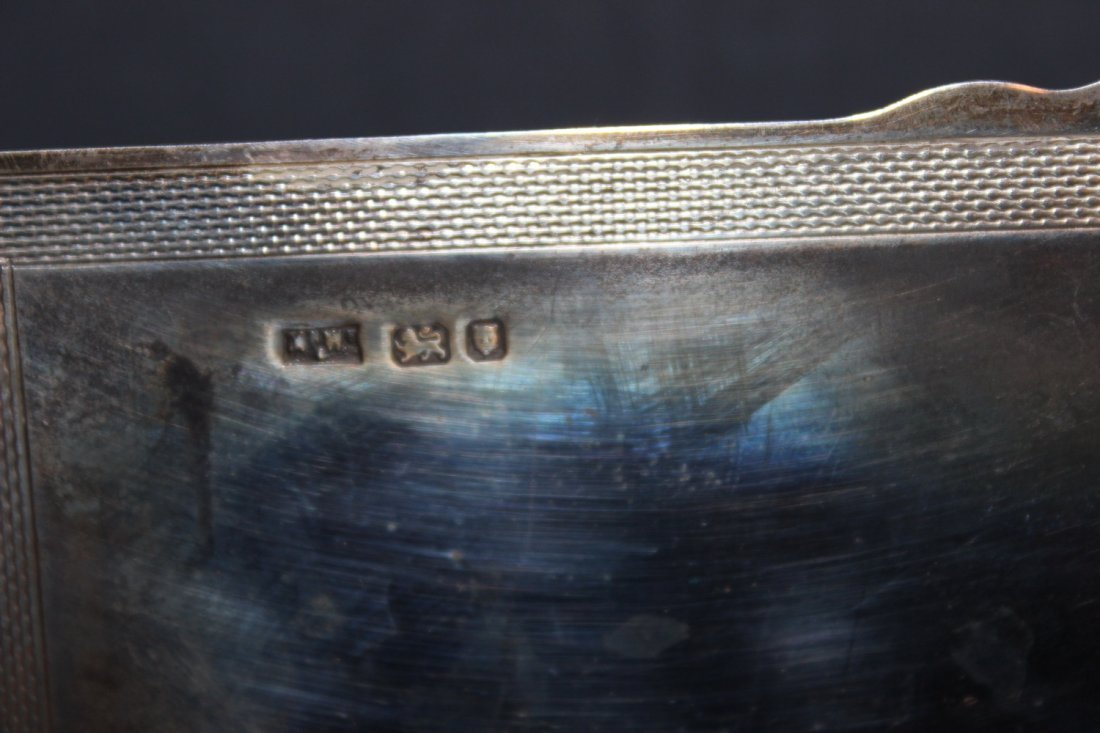 EARLY ENGLISH HALL MARKED STERLING SILVER BOX - WOOD - 4