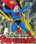 VINTAGE SUPERMAN TIN SIGN � Kitchen Sink Press, 1998 �