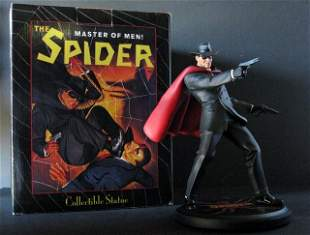 PULP HERO THE SPIDER - DELUXE PAINTED STATUE WITH BOX -