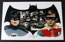 1966 BATMAN & ROBIN - DELUXE ART PRINT BY KEN BRANDT –