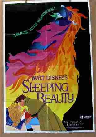DISNEY'S SLEEPING BEAUTY - Re-release 1970 - One Sheet