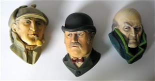 SHERLOCK HOLMES - LIMITED EDITION WALL HANGING BUST SET