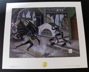 BATMAN CATWOMAN PENGUIN ORIGINAL BOB KANE ART PRINTS