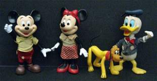 LOT OF FOUR VINTAGE DISNEY CARTOON CHARACTERS FROM