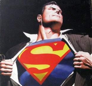 ALEX ROSS SUPERMAN & BATMAN - WORLD'S FINEST ART PRINT