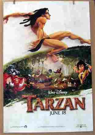 DISNEY'S TARZAN - 1999 - Advance One Sheet Movie Poster