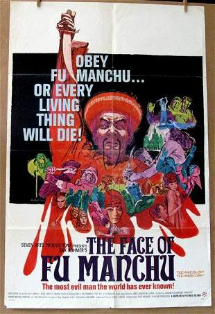 CHRISTOPHER LEE - THE FACE OF FU MANCHU - 1965 - One