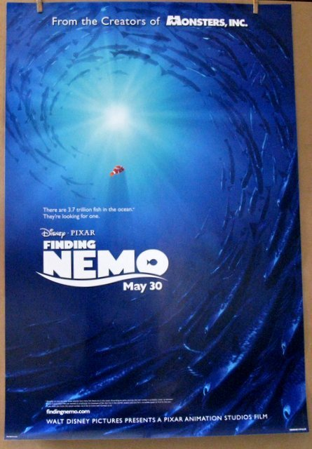 DISNEY'S FINDING NEMO - 2003 - Advance One Sheet Movie
