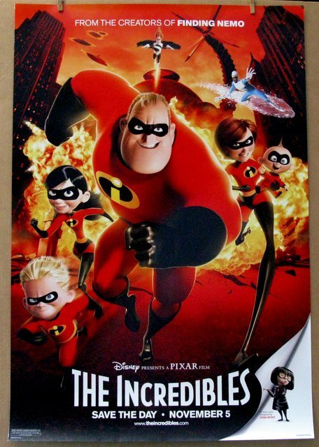 DISNEY'S THE INCREDIBLES - 2004 - Advance One Sheet