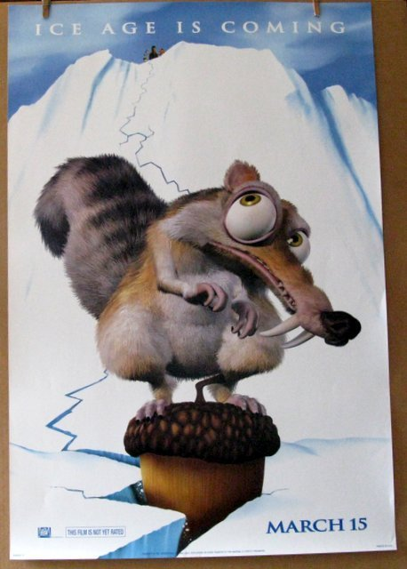 """ICE AGE - 2002 - Advance One Sheet Movie Poster - 27"""" x"""