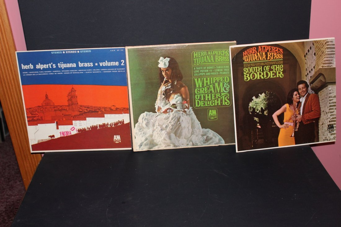 3 RECORD LOT - HERB ALPERT & THE TIJUANA BRASS BAND -