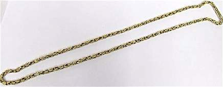 Vintage 14K Yellow Gold Link Necklace 23 2452dwt