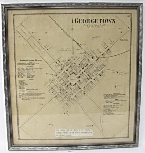 Late 19th Century Map of Georgetown, Delaware