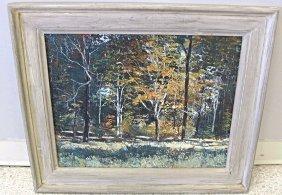 """""""Autumn, Edge of the Woods"""" #7312 by Henry Progar, Oil"""