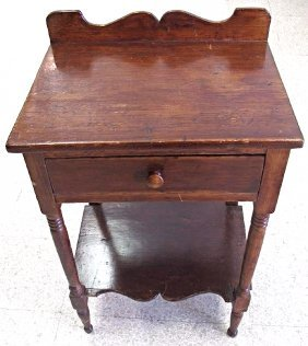 "Vintage Side Table with 1 Drawer, 29 1/2""h x 21""w x"
