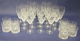 Thirty-Five (35)Pieces of Lead Crystal Stemware