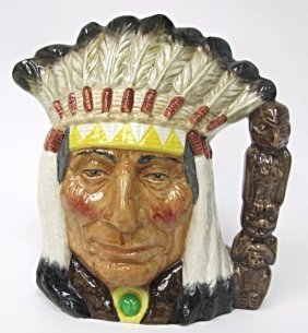 Royal Doulton North American Indian Character Toby Mug