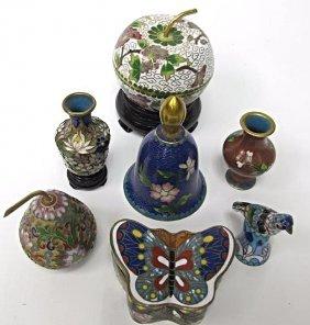 Seven (7) Pieces Miscellaneous Miniature Cloisonne