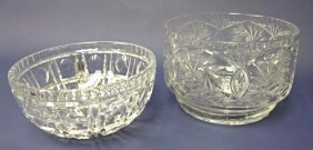 Two (2) Cut Crystal Bowls