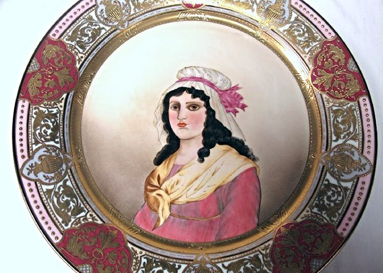 "Twelve (12) Royal Vienna Portrait Plates 12"" diameter - 3"