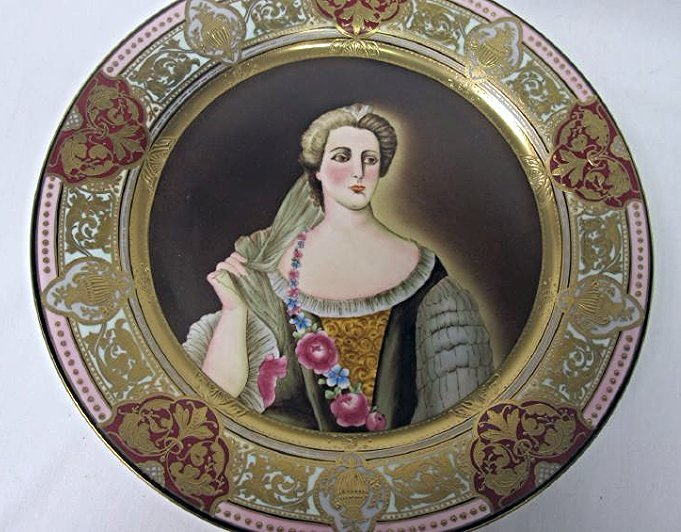 "Twelve (12) Royal Vienna Portrait Plates 12"" diameter - 4"