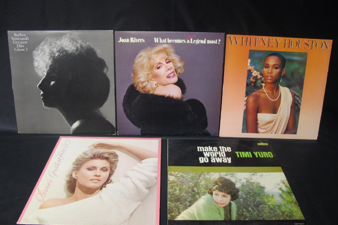 Collection of Five Vinyl Records of Female Artists