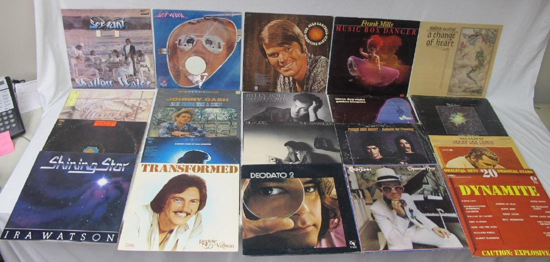 Collection of Twenty-Two (22) Rock Vinyl Records