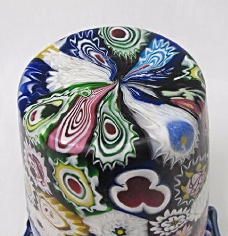 "Italian Millefiori Double Handled Glass Vase, 11"" tall - 4"